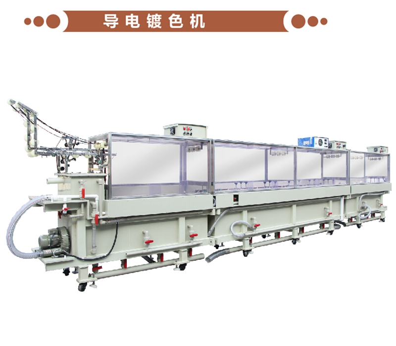 Conductive color plating machine